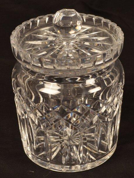 Waterford Lead Crystal Biscuit Barrel
