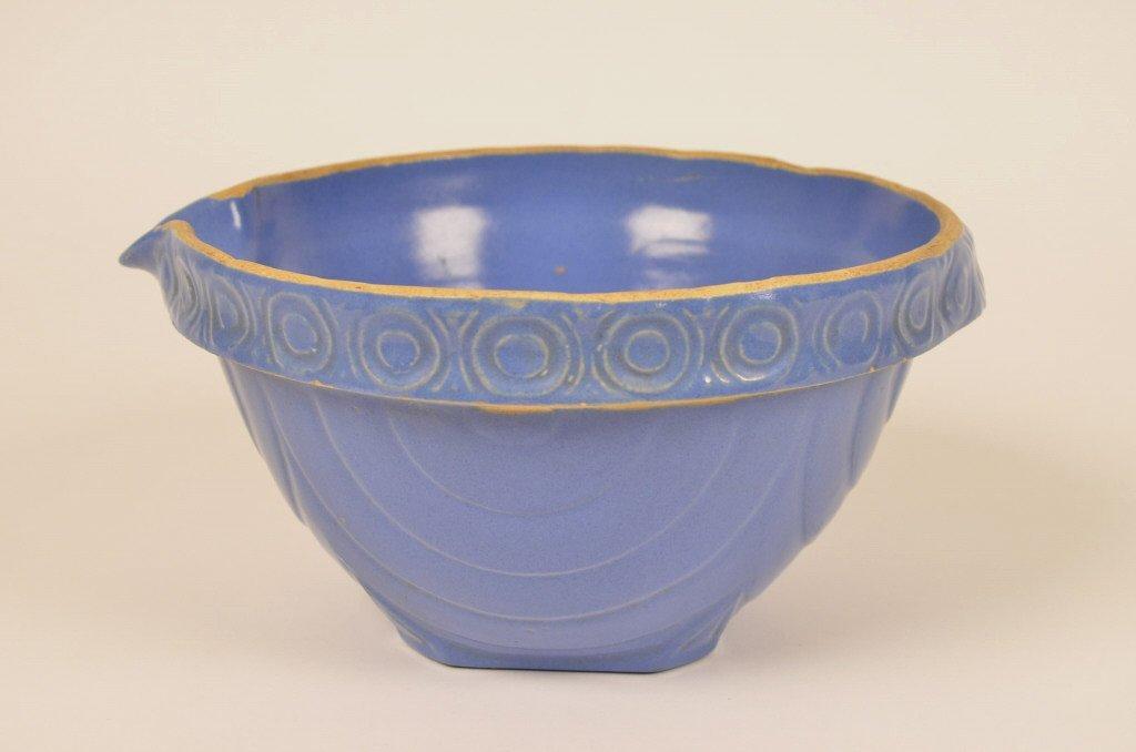 Blue Stoneware Batter Bowl