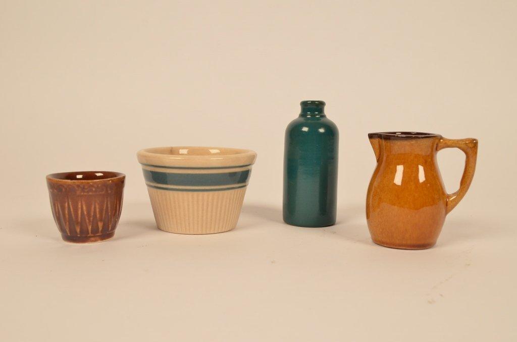 Miniature Stoneware & Red Ware Pitcher