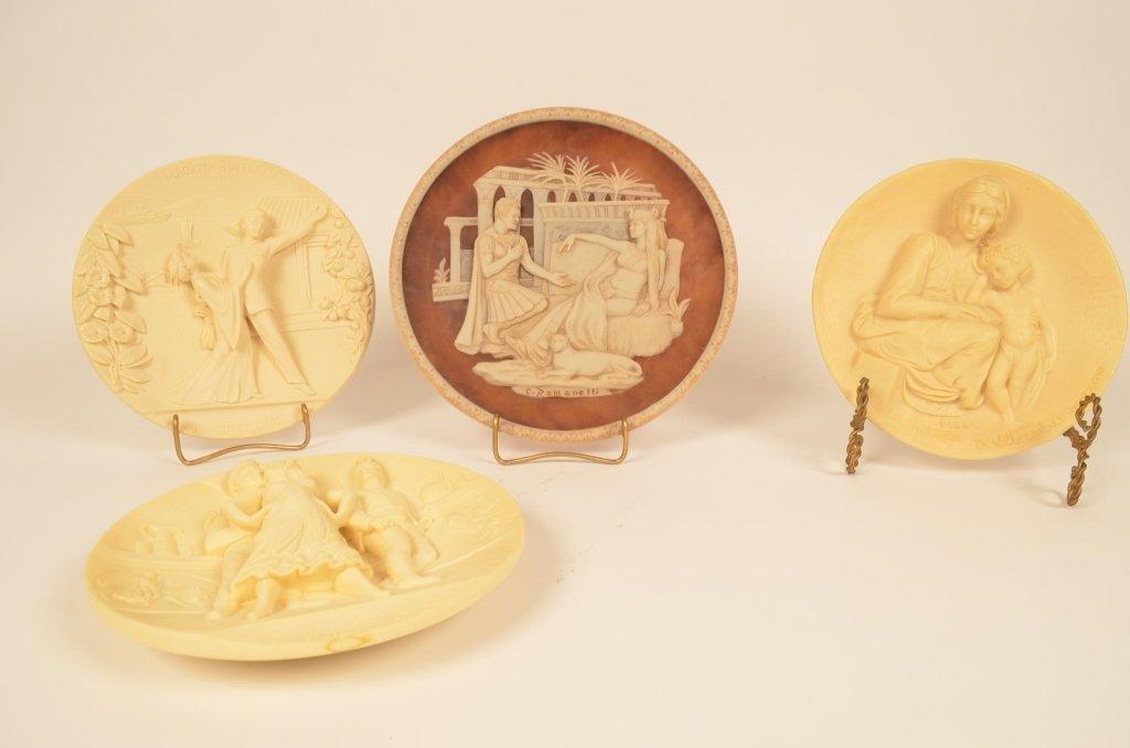 Heavily Embossed Decorative Plates