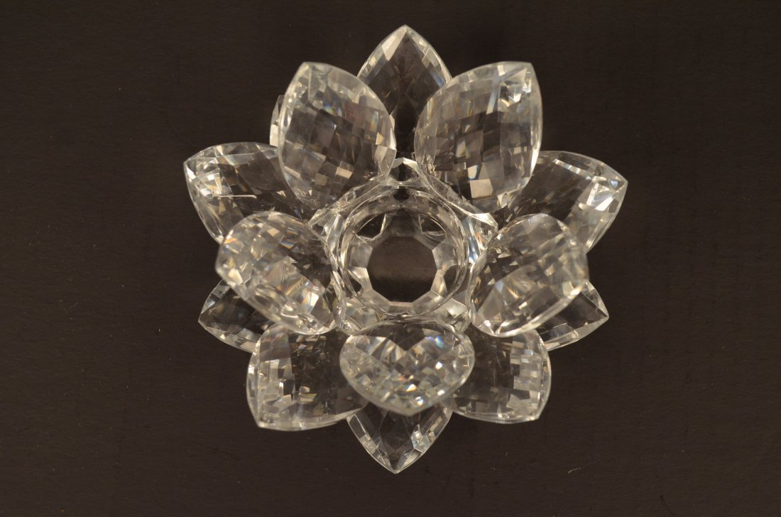 Smith & Hawken Crystal Lotus Flower Candle Holder - 2