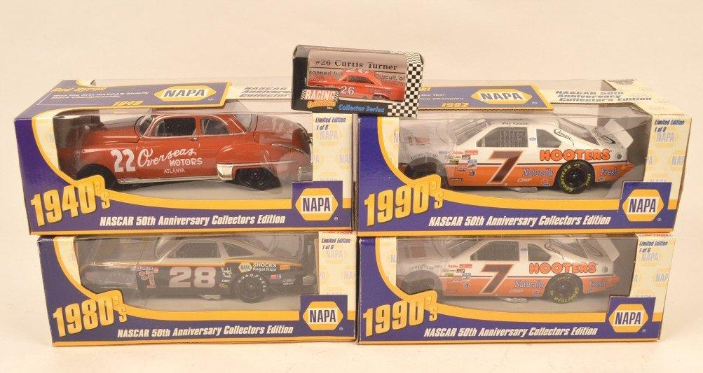 (4) Napa Nascar 50th Anniversary Die Cast Cars