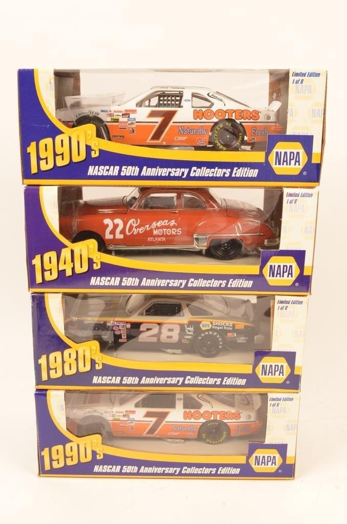 (4) Napa Nascar 50th Anniversary Die Cast Cars - 2