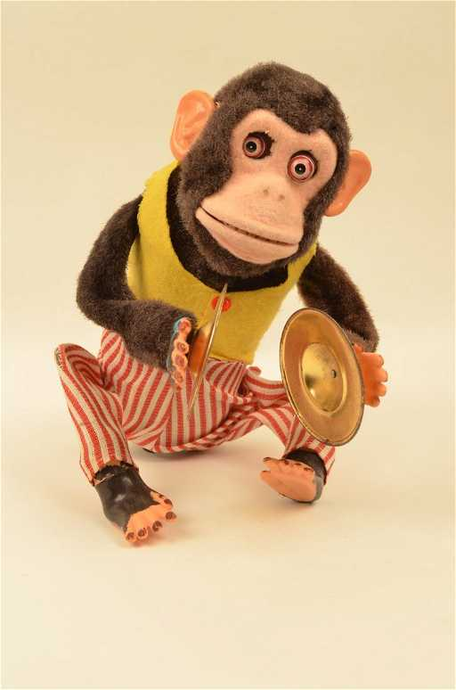 Vintage Musical Jolly Clapping Chimp Monkey Cymbals Toy