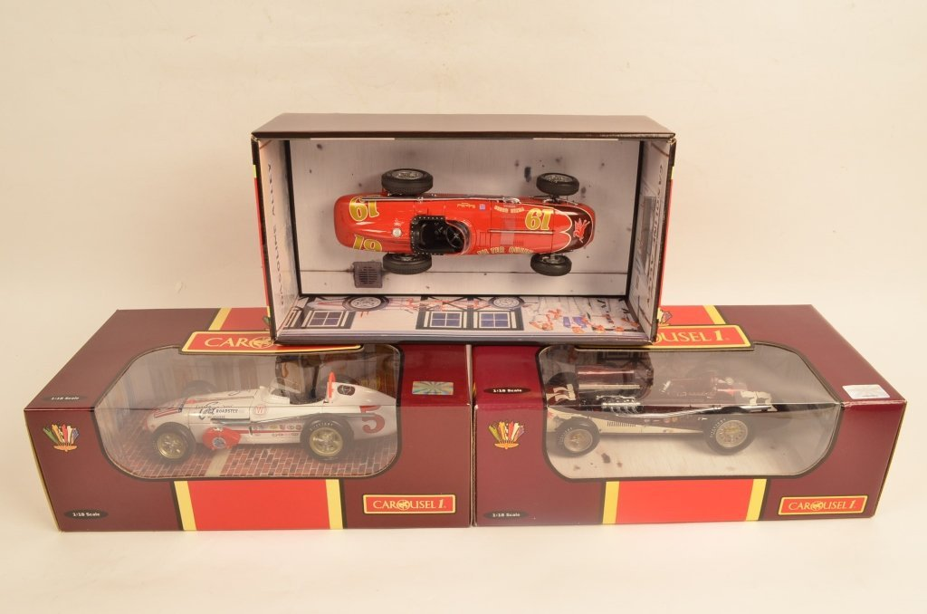 (3) Carousel 1:18 Scale Roadster Die Cast Cars