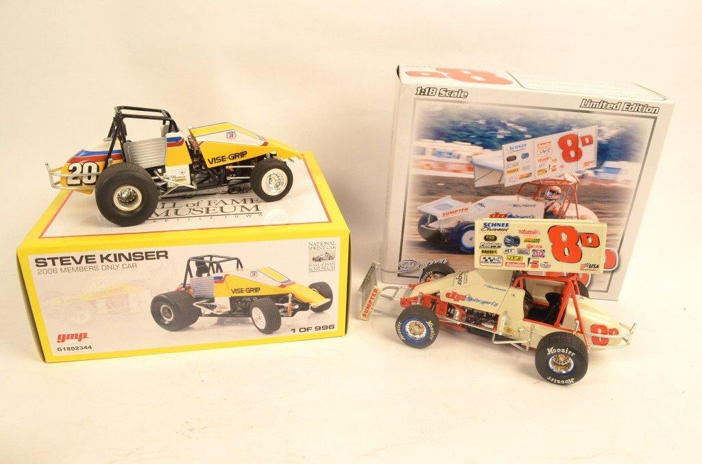 (2) Sprint Cars 1:18 Scale Die Cast Models.