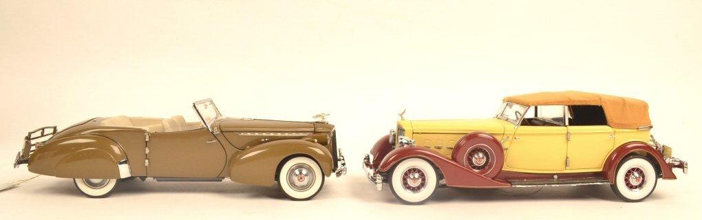 (2) Franklin Mint Precision Models 1:16 Scale Cars