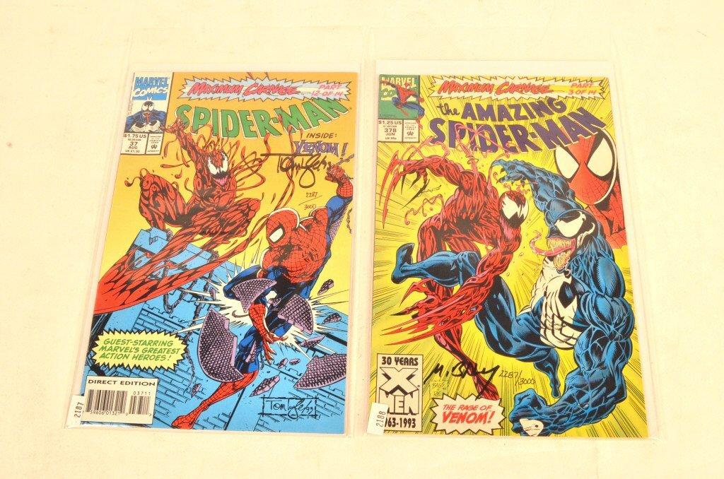 (2) Spiderman Artist Signed Marvel Comic Books