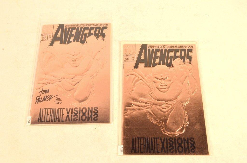 (2) Avenger Marvel Comic Books, One is Signed