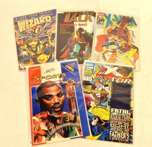 (5) Artist Signed Comic Books
