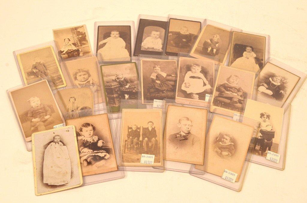 (21) CDV's Early Photographs of Children