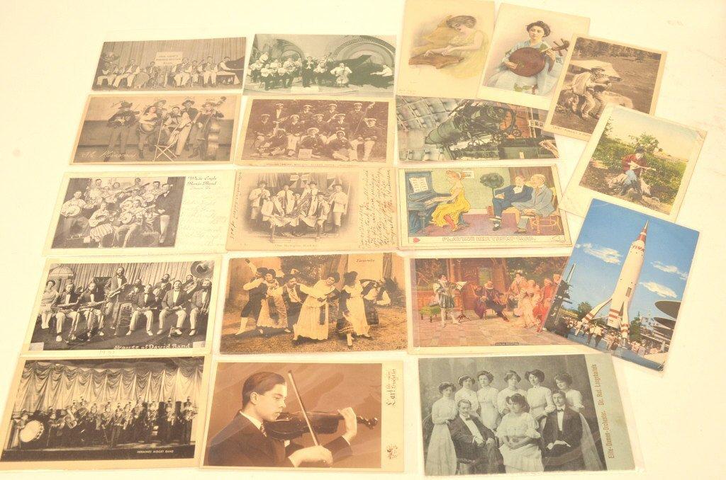 (17) Vintage Postcards (Bands & Musicians)