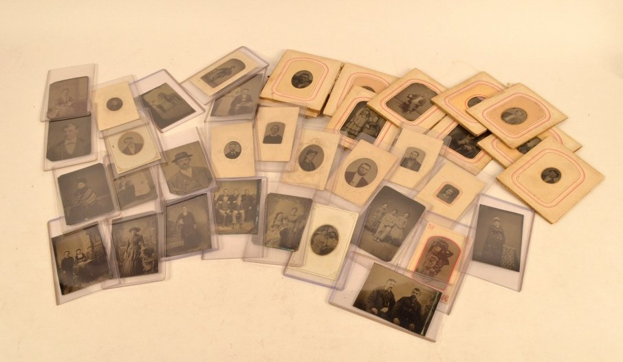 Assorted Tintypes: 1/6, 1/9 & 1/16 Plate Sizes