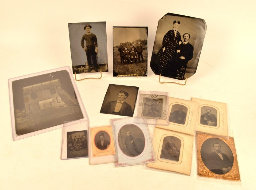 Full Plate, Half Plate, 1/6 Plate Tintypes