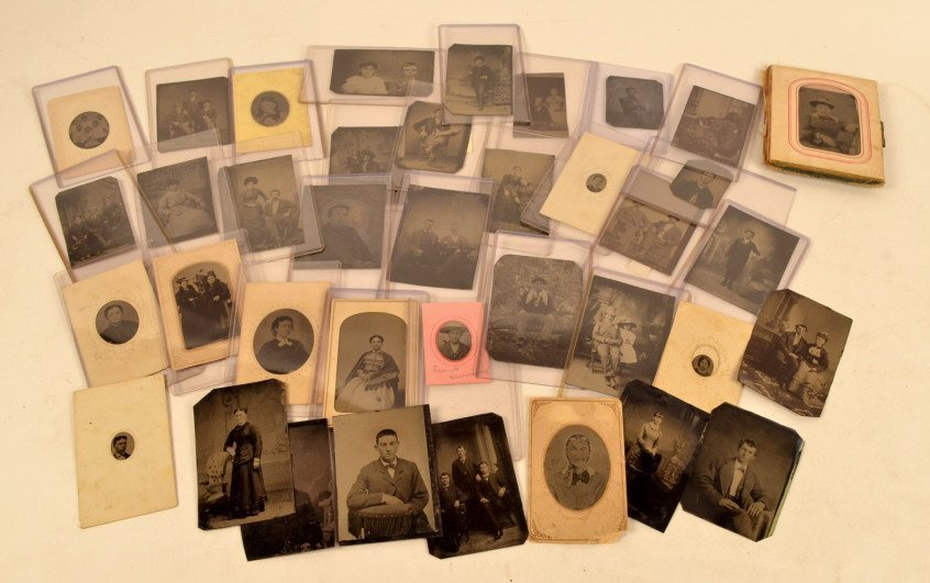 Assorted Tintypes 1/16 & 1/9 Plate Sizes