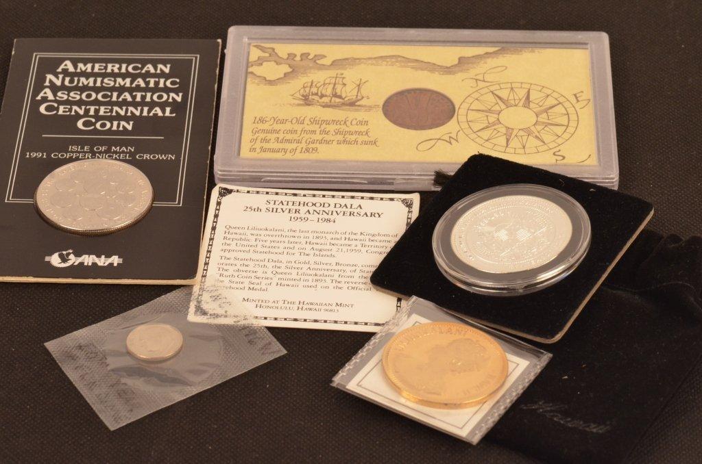 Silver Statehood Dala Hawaii 1959-1984 & Coins