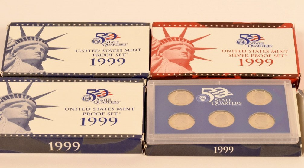 1999 State Quarters US Mint Proof Sets & Silver