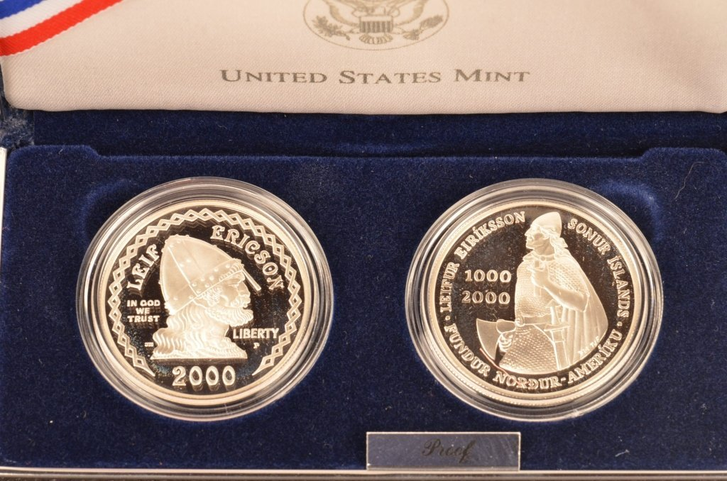 2000 Leif Ericson & Icelandic Coin & 1992 Olympic