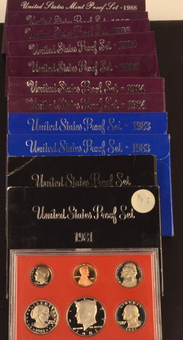 1981-1987 Proof Sets/ 1988-89 Mint Proof Sets