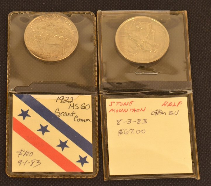 1922 Grant Commemorative & Stone Half Dollar