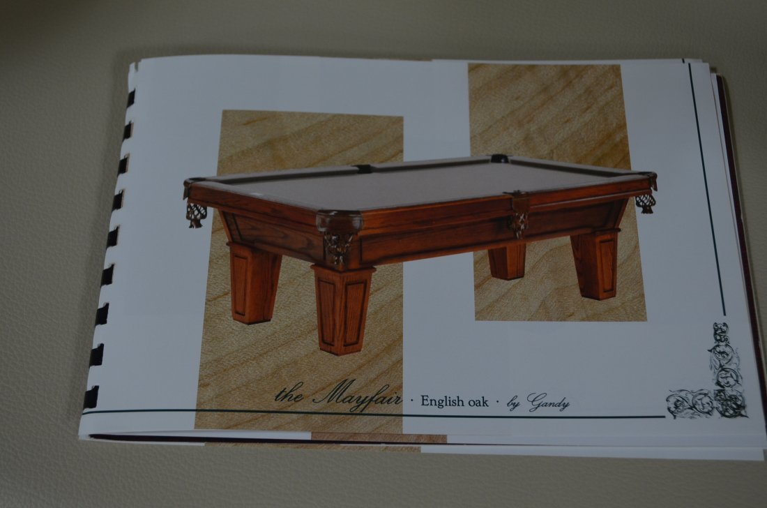 Gandy Mayfair Oak Three Slate Pool Table W/ Accessories - 10