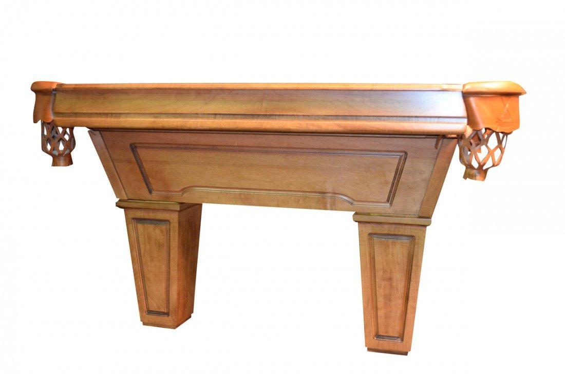 Gandy Mayfair Oak Three Slate Pool Table W/ Accessories - 2