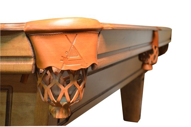 Gandy Mayfair Oak Three Slate Pool Table W/ Accessories - 3