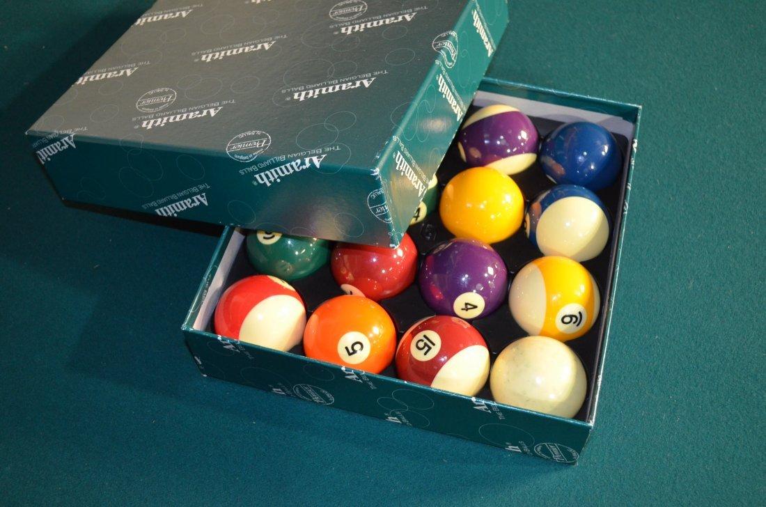 Gandy Mayfair Oak Three Slate Pool Table W/ Accessories - 5
