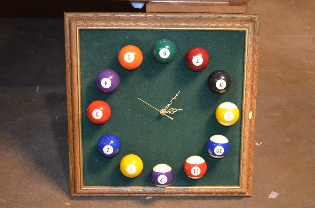Gandy Mayfair Oak Three Slate Pool Table W/ Accessories - 8
