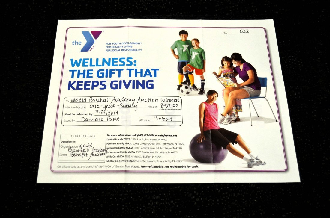 JORGENSEN FAMILY YMCA MEMBERSHIP:   $852 value