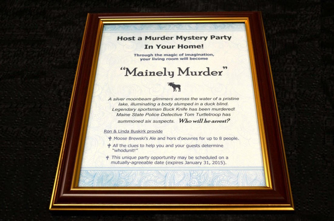 MURDER MYSTERY PARTY:  $250 Value