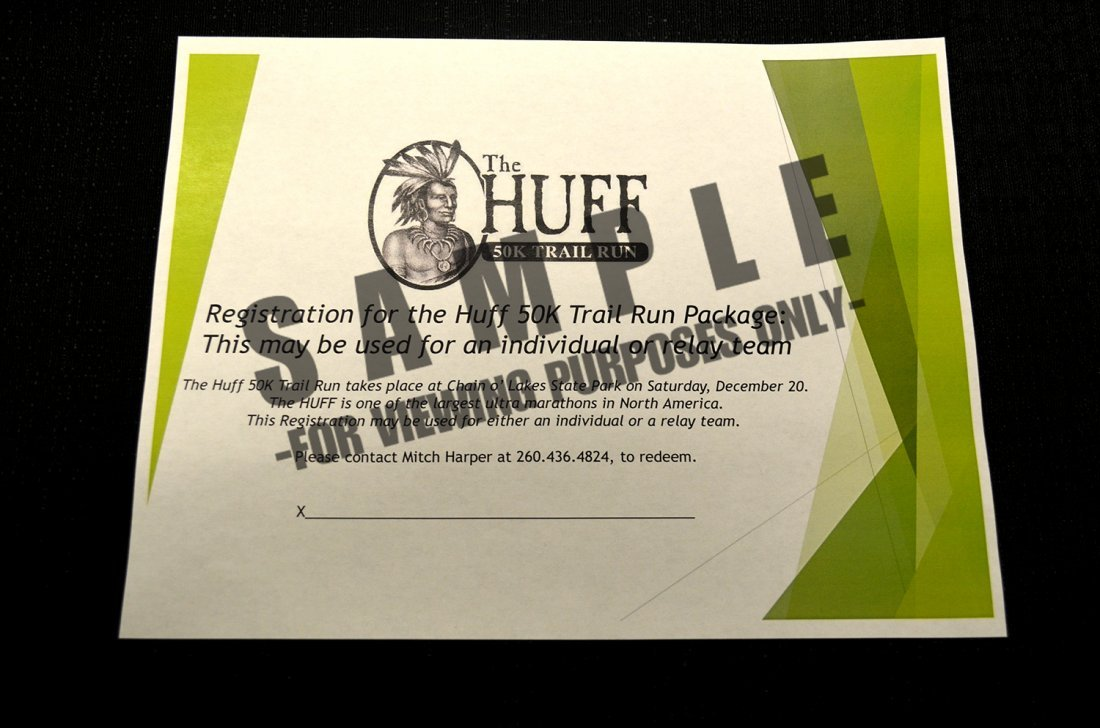 The Huff 50K Trail Run Package: $100 value - 6