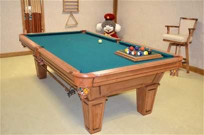 *Gandy Mayfair Oak 3 Slate Pool Table & Access.