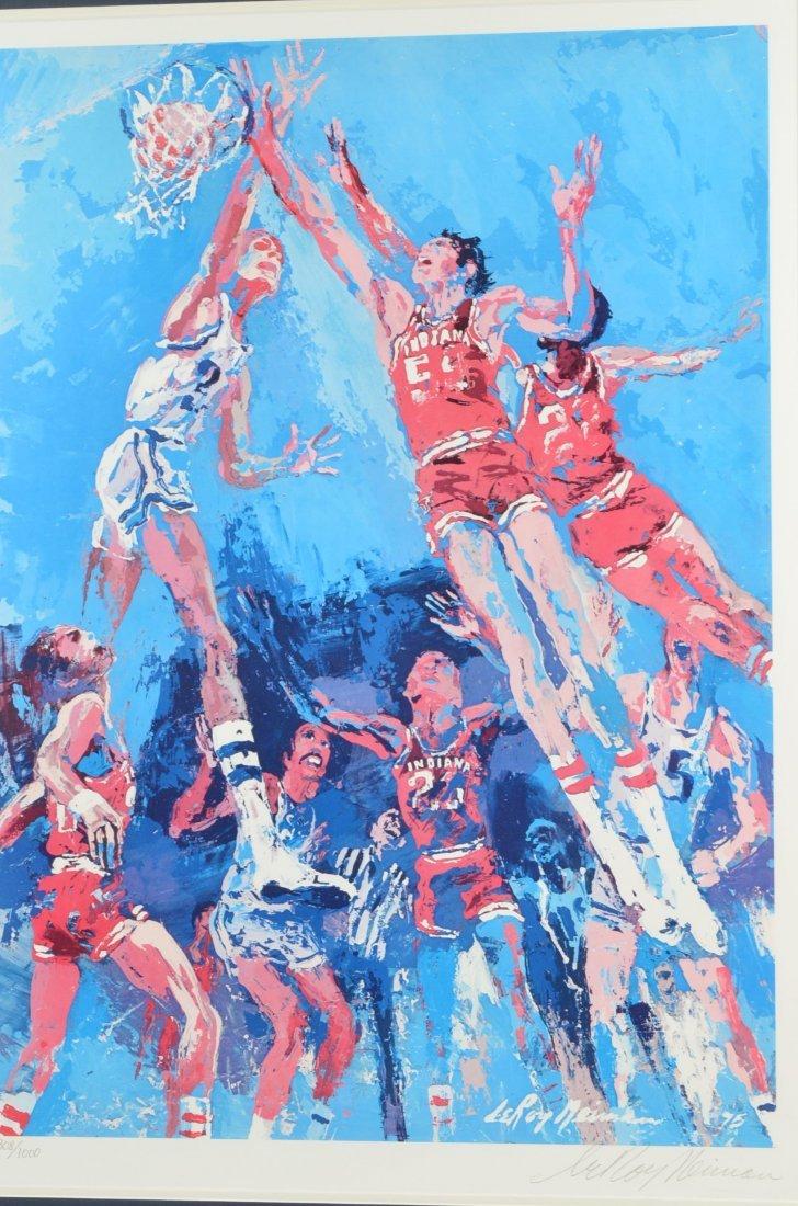 *Leroy Neiman Signed & Numbered IU Basketball Serigraph - 2