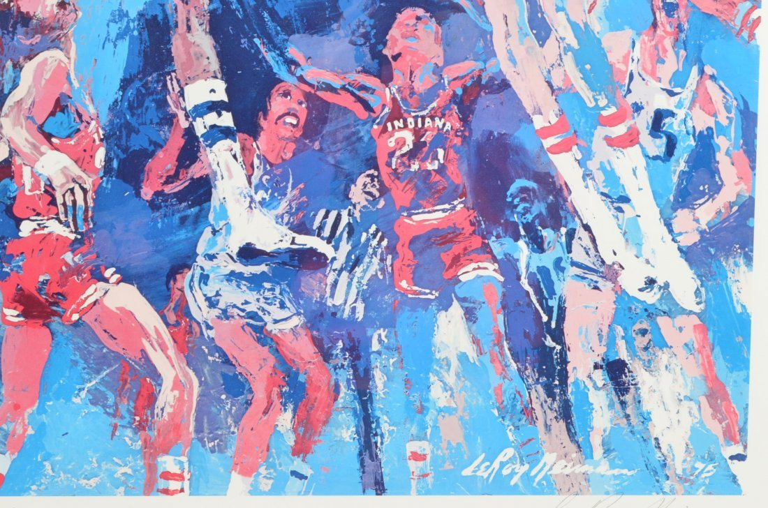 *Leroy Neiman Signed & Numbered IU Basketball Serigraph - 4