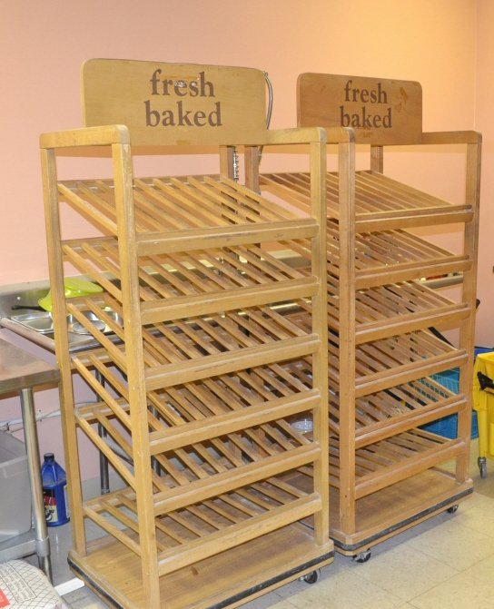 Pair of Wooden Bakery Display Racks - 2
