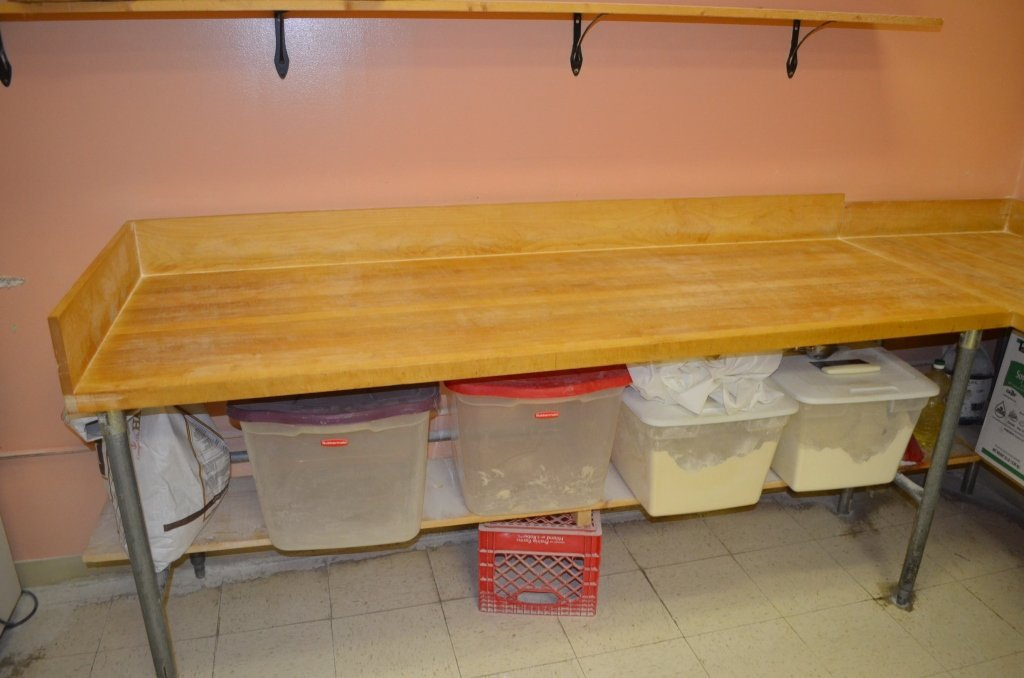 Butcher Block Prep Table Maple Top