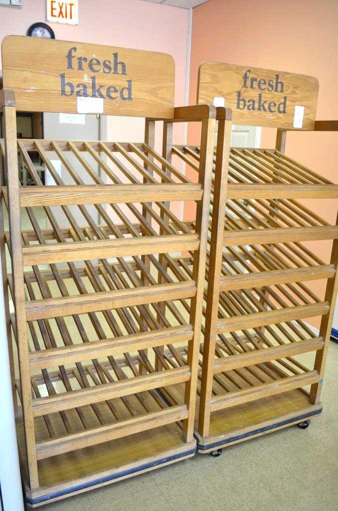 Pair of Wooden Bakery Display Racks
