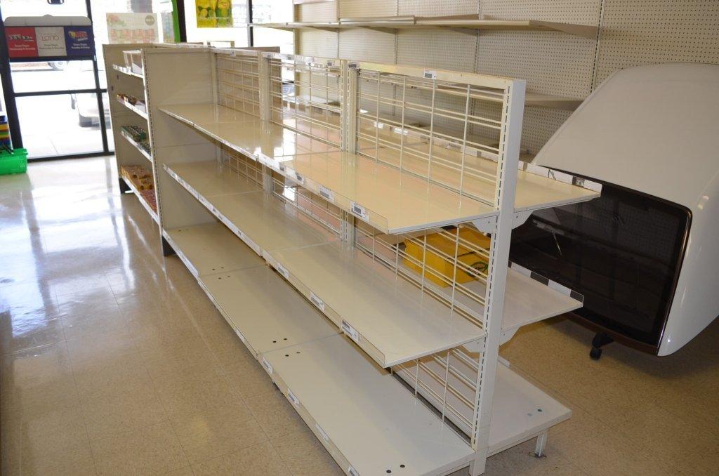 (10) 3 Shelf Metal Store Displays