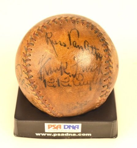 *PSA DNA Babe Ruth & Lou Gehrig Signed Baseball - 7