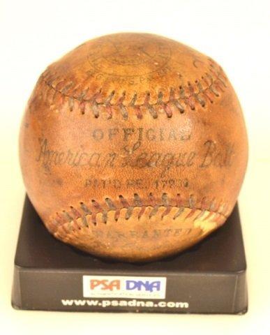 *PSA DNA Babe Ruth & Lou Gehrig Signed Baseball - 8