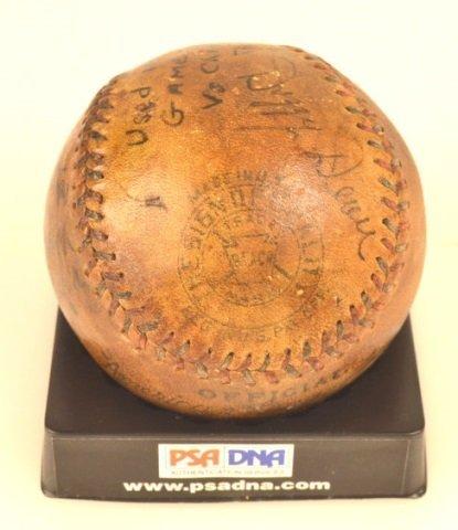 *PSA DNA Babe Ruth & Lou Gehrig Signed Baseball - 9