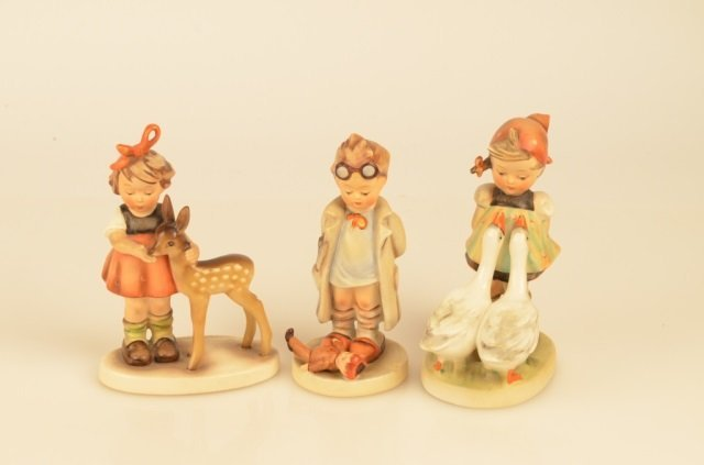 (3) Goebel Hummel Figurines Full Bee Markings
