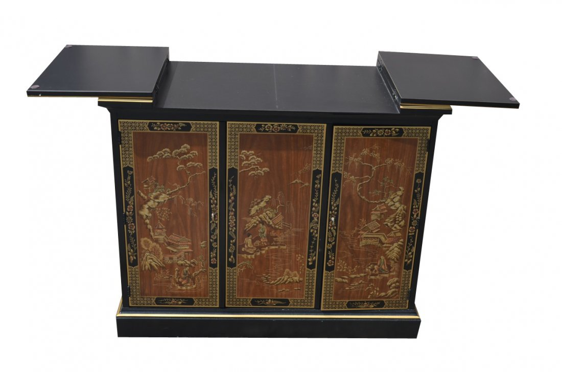 *Asian Black Drexel Liquor Bar Server/Cabinet