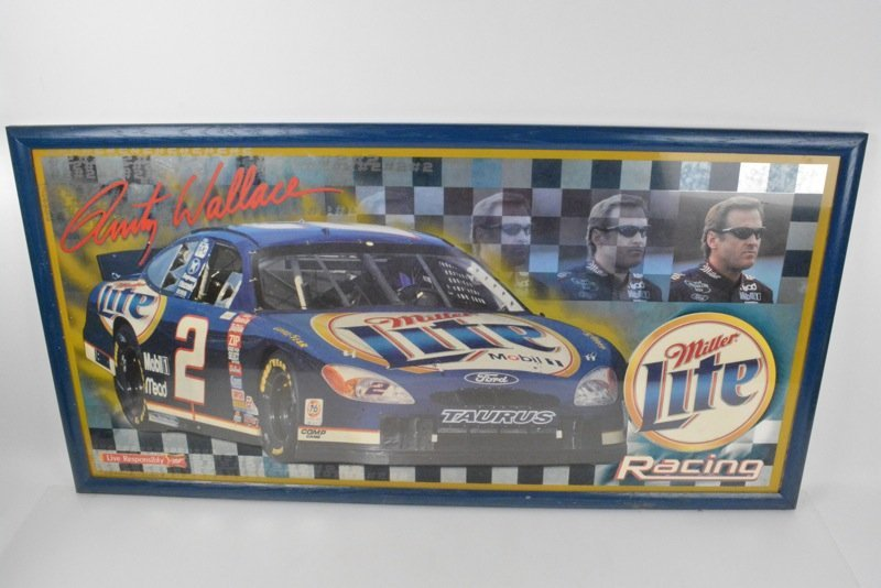 *Rusty Wallace Miller Lite Beer Advertising Sign