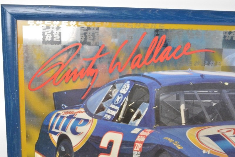 *Rusty Wallace Miller Lite Beer Advertising Sign - 2