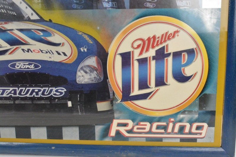 *Rusty Wallace Miller Lite Beer Advertising Sign - 4