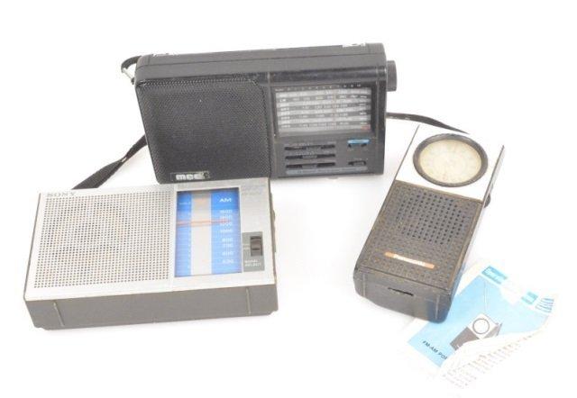 (3) Handheld Portable Radios
