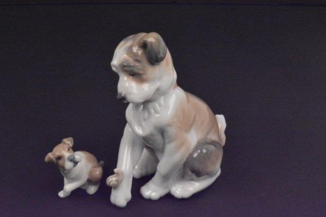 Lladro Porcelain Dog Figurines