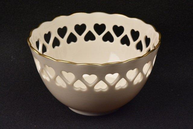 *Lenox Porcelain Cut-Out Heart Bowl